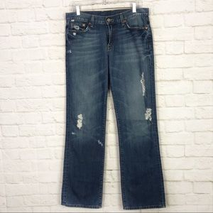 Lucky Brand Classic Rider Distressed Straight Jean